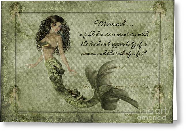 Becky Digital Art Greeting Cards - Mermaid PhotoArt Greeting Card by Becky Hayes