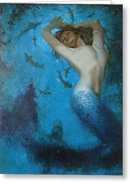 Sergey Ignatenko Greeting Cards - Mermaid Greeting Card by Sergey Ignatenko
