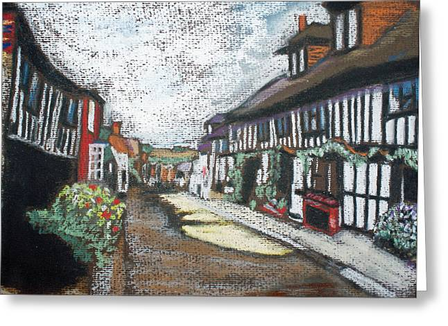 Bucolic Scenes Pastels Greeting Cards - Mermaid Street Greeting Card by Callan Percy