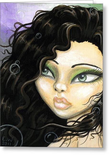 Mermaid Fantasy Art Greeting Cards - Mermaid Tia Greeting Card by Elaina  Wagner