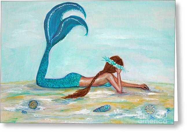 Recently Sold -  - Popular Art Greeting Cards - Mermaids Exist Greeting Card by Leslie Allen