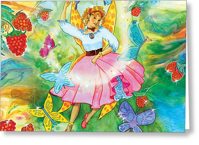 Merri Goldentree Dances Greeting Card by Teresa Ascone