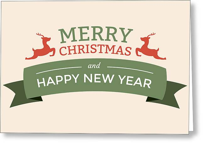 Happy New Year Greeting Cards - Merry Christmas and a Happy New Year Greeting Card by Florian Rodarte