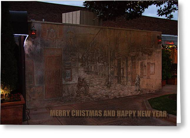 Costa Mesa Greeting Cards - Merry Christmas and Happy New Year Greeting Card by Viktor Savchenko