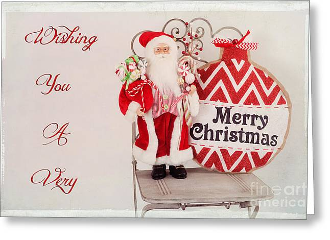 Christs Birthday Greeting Cards - Merry Christmas Card Greeting Card by Carolyn Rauh