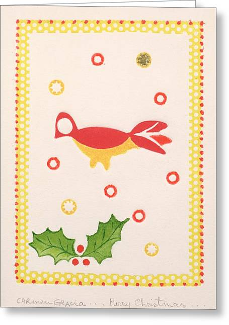 Carmen Greeting Cards - Merry Christmas Greeting Card by Carmen Gracia
