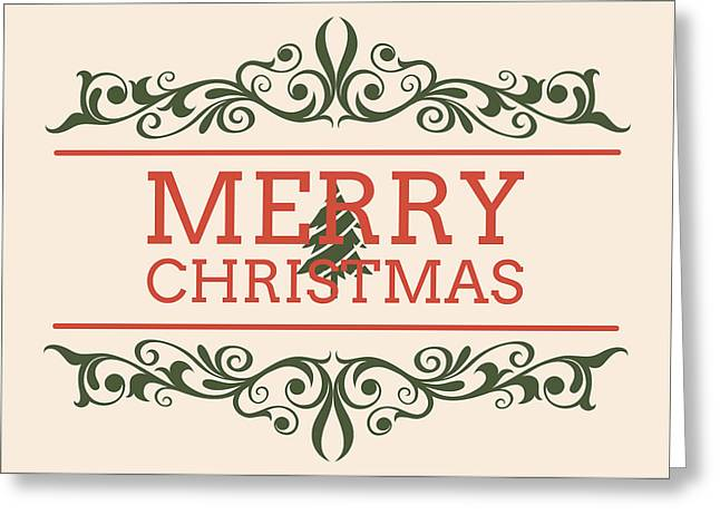 Greeting Greeting Cards - Merry Christmas Greeting Card by Florian Rodarte