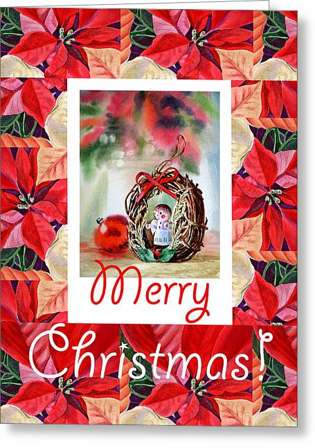 Holiday Greeting Greeting Cards - Merry Christmas From An Angel Greeting Card by Irina Sztukowski