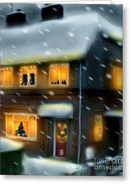 Warwick Digital Greeting Cards - Merry Christmas From The Warwicks Greeting Card by Rachel Prince