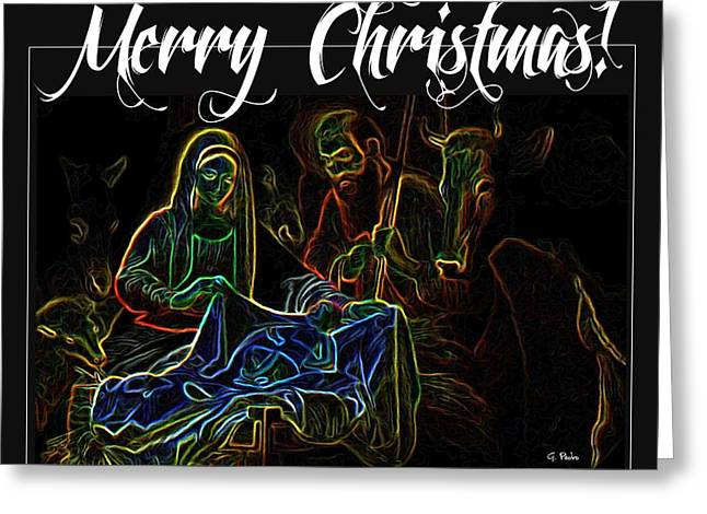 Merry Christmas Greeting Card by George Pedro
