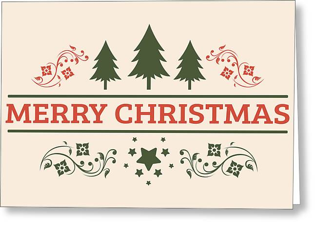 Happy New Year Greeting Cards - Merry Christmas Greeting Card Greeting Card by Florian Rodarte