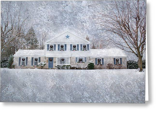 Wintry Photographs Greeting Cards - Wintry Holiday Greeting Card by Shelley Neff