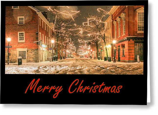 Merry Christmas Greeting Card by JC Findley
