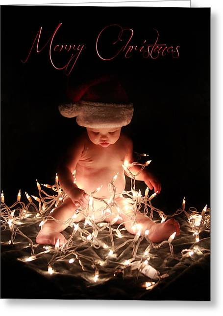 Merry Christmas Greeting Card by Lisa Evans