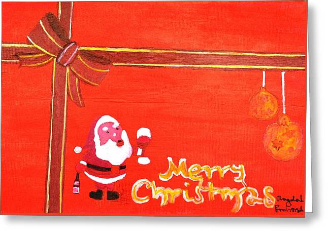 Magdalena Frohnsdorff Greeting Cards - Merry Christmas Greeting Card by Magdalena Frohnsdorff