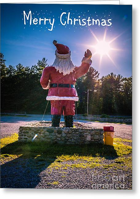 Send Greeting Cards - Merry Christmas Santa Claus Greeting Card Greeting Card by Edward Fielding