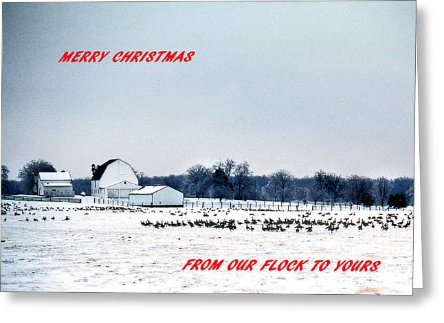 Rural Snow Scenes Greeting Cards - Merry Christmas Greeting Card by Skip Willits