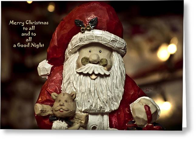White Beard Greeting Cards - Merry Christmas To All Greeting Card by Trish Tritz