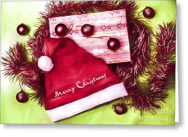 Tinsel Greeting Cards - Merry Christmas to you Greeting Card by Ryan Jorgensen