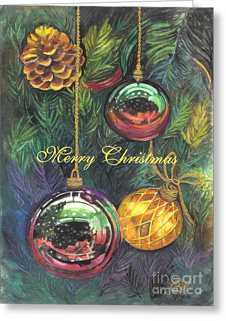 Recently Sold -  - Festivities Greeting Cards - Merry Christmas Wishes Greeting Card by Carol Wisniewski