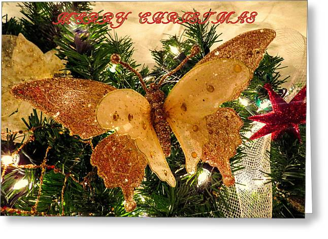 Label Greeting Cards - Merry Christmas Greeting Card by Zina Stromberg