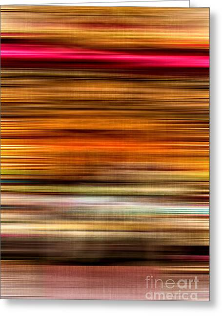 Brown Toned Art Greeting Cards - Merry Go Round Abstract Greeting Card by Edward Fielding