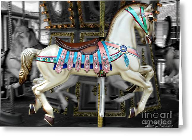 Merry Go Round Greeting Card by Colleen Kammerer