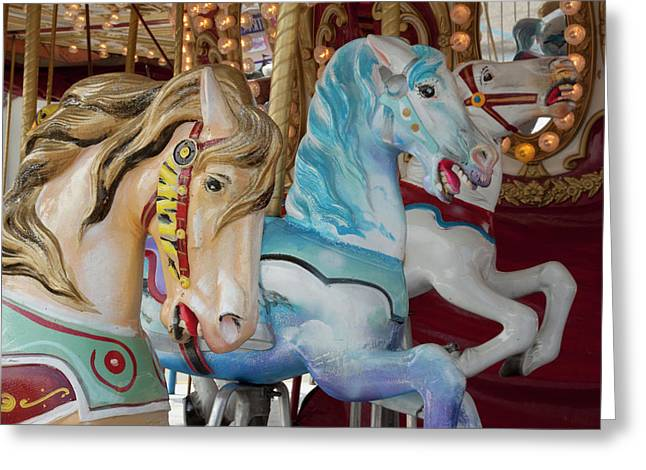 Merry-go-round Horses At Indiana State Greeting Card by Jaynes Gallery