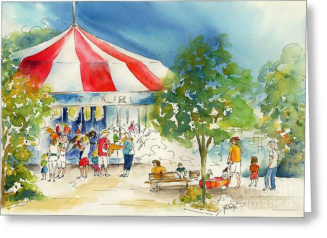 Merry Go Round Greeting Card by Pat Katz
