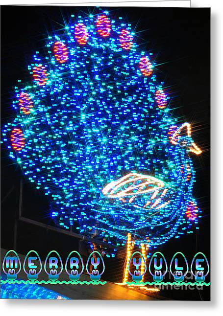Christmas Lights Greeting Cards - Merry Yule Greeting Card by Mandy Judson
