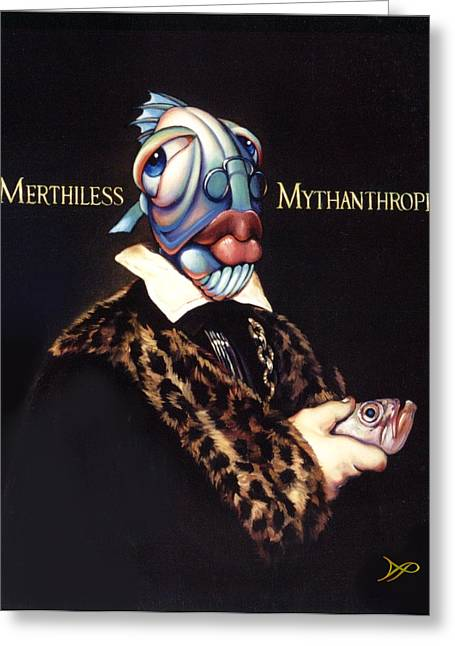 Ocean Fish Greeting Cards - Merthiless Mythanthrope Greeting Card by Patrick Anthony Pierson