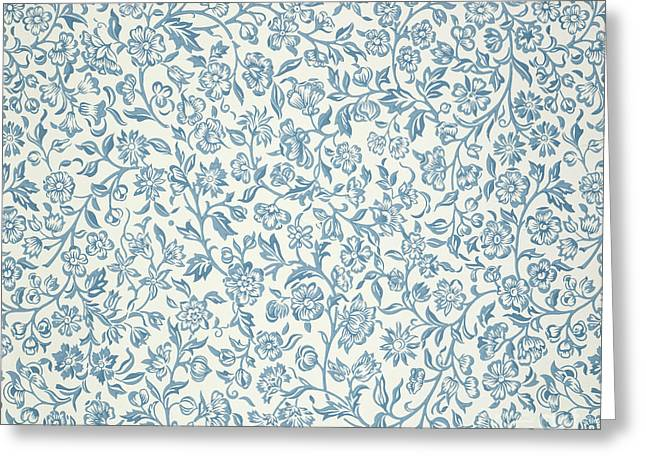 Bold Style Paintings Greeting Cards - Merton Wallpaper Design Greeting Card by William Morris