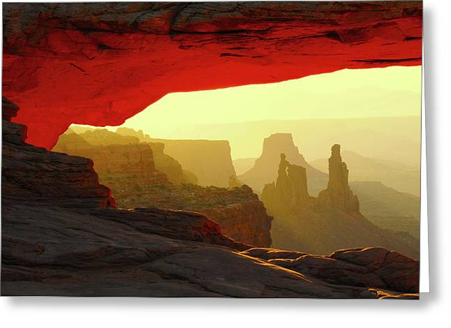 Mesa Arch, Canyonlands National Park Greeting Card by Michel Hersen
