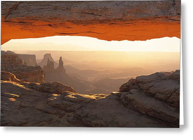 Mesa Arch, Canyonlands National Park Greeting Card by Panoramic Images