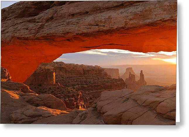 Slickrock Greeting Cards - Mesa Arch Greeting Card by Doug Andrews