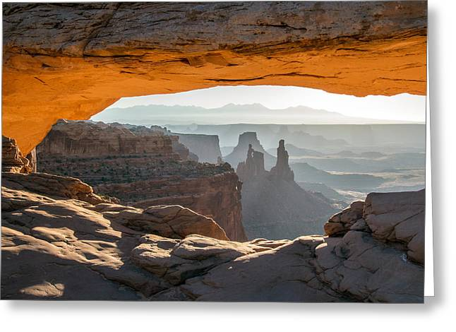 Slickrock Greeting Cards - Mesa Arch Morning View Greeting Card by Nicholas Blackwell
