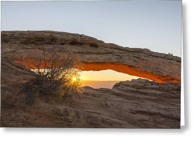 Mesa Arch Sunrise 3 - Canyonlands National Park - Moab Utah Greeting Card by Brian Harig