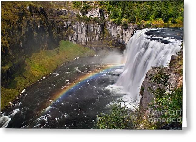 Haybale Photographs Greeting Cards - Mesa Falls Greeting Card by Robert Bales