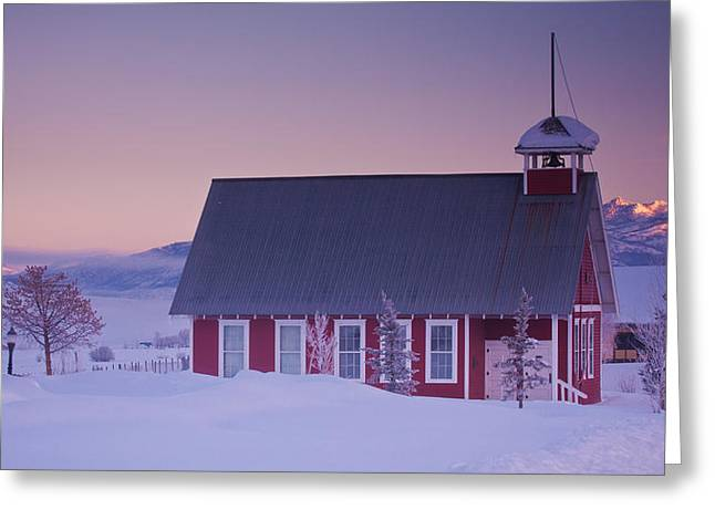 Red School House Greeting Cards - Mesa School House Greeting Card by Bridget Calip