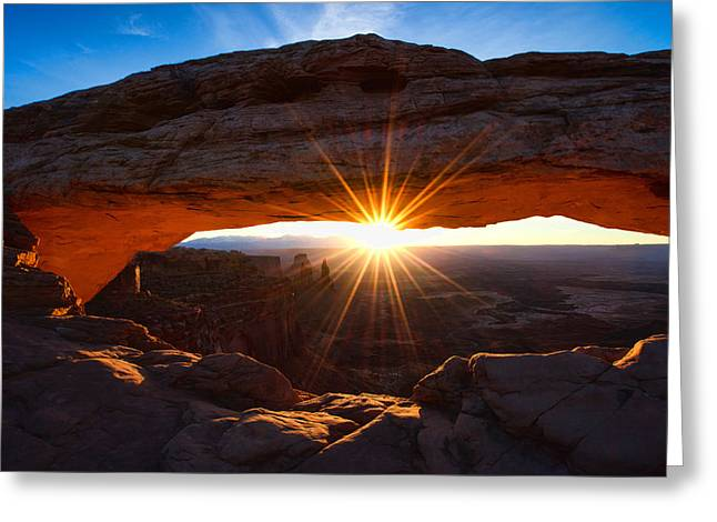 Iconic Photographs Greeting Cards - Mesa Sunrise Greeting Card by Chad Dutson