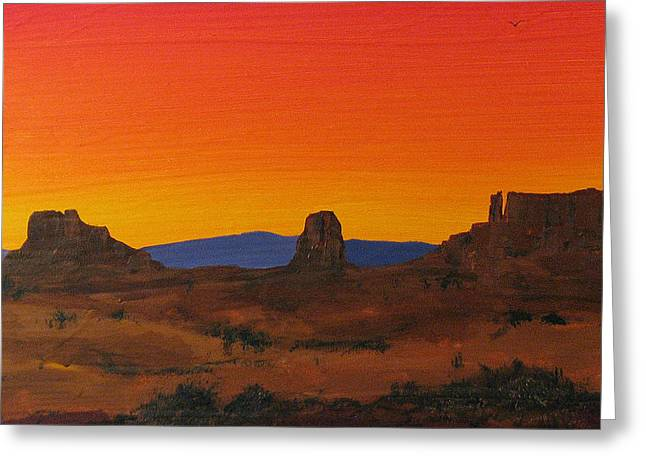 Sienna Greeting Cards - Mesa Sunset Greeting Card by Carl Bandy