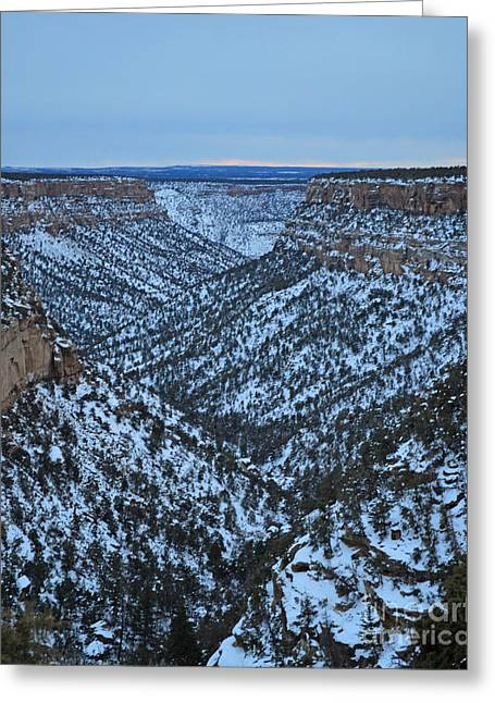 Flat Four Greeting Cards - Mesa Valley Greeting Card by Meandering Photography