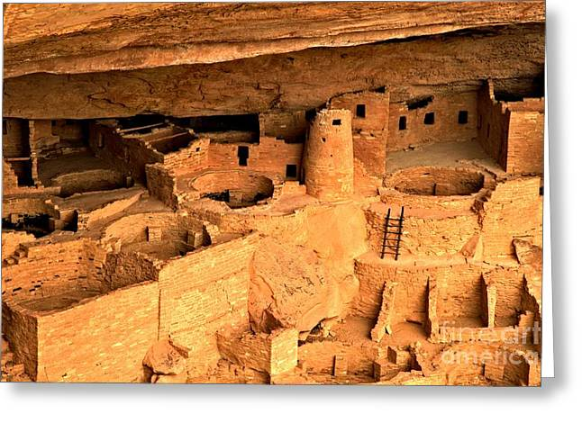 Ancient Ruins Greeting Cards - Mesa Verde Cliff Palace Greeting Card by Adam Jewell