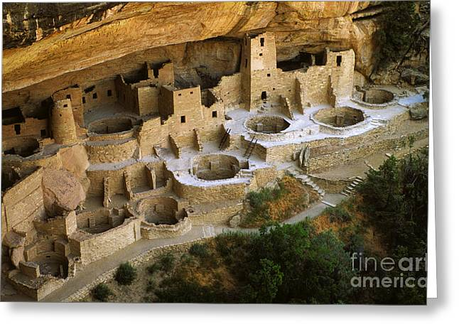 Cliff Dwellers Greeting Cards - Mesa Verde Colorado Greeting Card by Bob Christopher