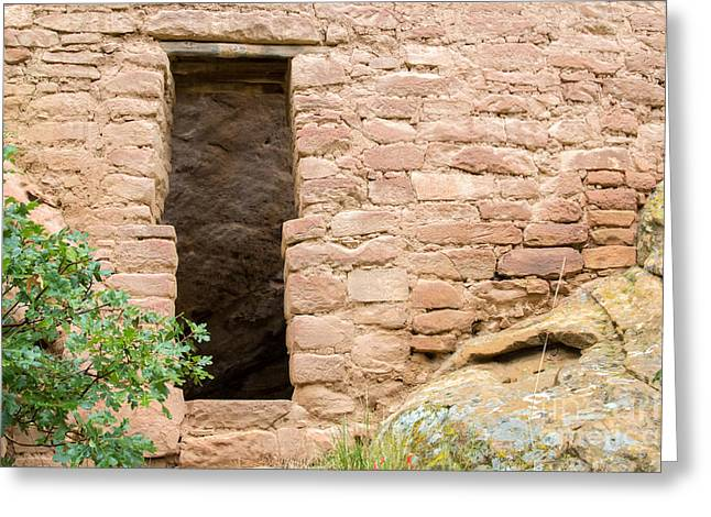 Early American Dwellings Greeting Cards - Mesa Verde Doorway Greeting Card by Nicholas Blackwell