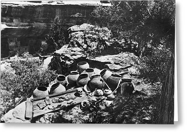 Mesa Verde Explorations Greeting Card by Underwood Archives