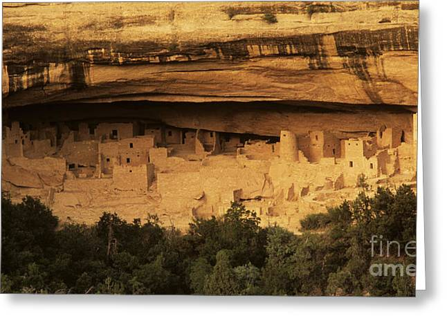 Cliff Dwellers Greeting Cards - Mesa Verde Home Of The Ancients Greeting Card by Bob Christopher