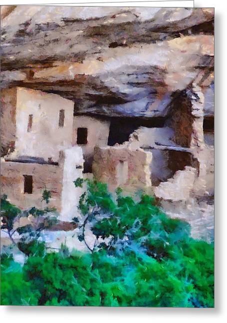 National Park Mixed Media Greeting Cards - Mesa Verde Ruins Greeting Card by Dan Sproul