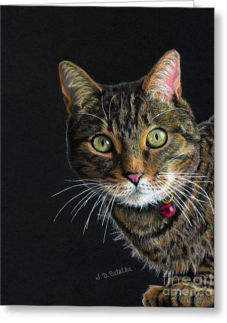 Photo Realism Drawings Greeting Cards - Mesmer Eyes Greeting Card by Sarah Batalka