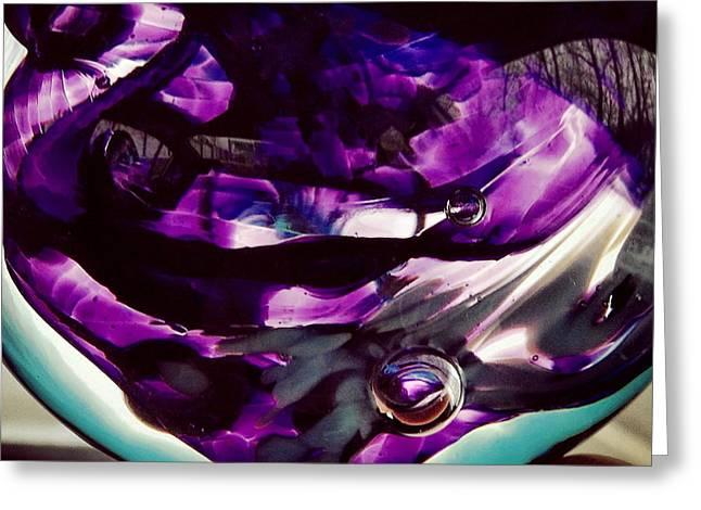 Hues Of Purple Greeting Cards - Mesmerize Purple II Greeting Card by Angela Rath